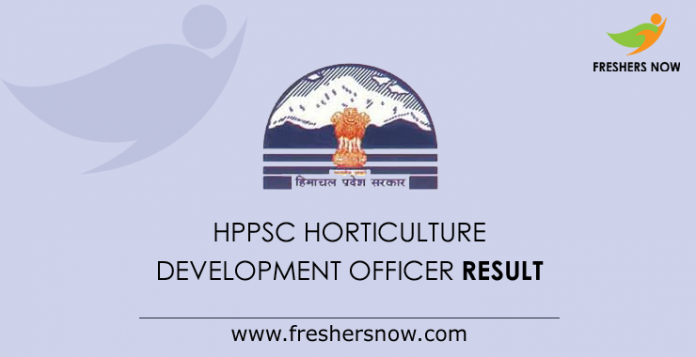 HPPSC Horticulture Development Officer Result 2019