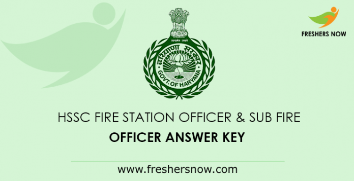 HSSC Fire Station Officer & Sub Fire Officer Answer Key