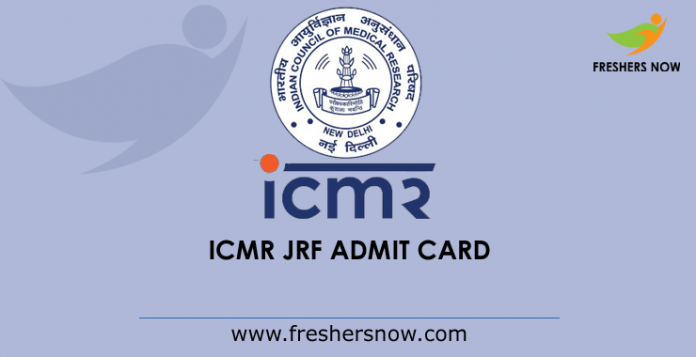 ICMR JRF Admission Card 2019