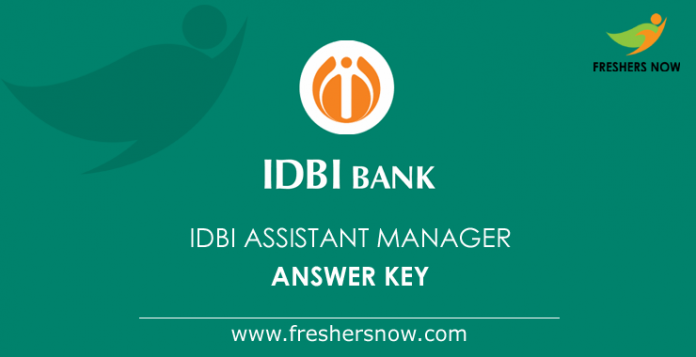 IDBI Assistant Manager Answer Key
