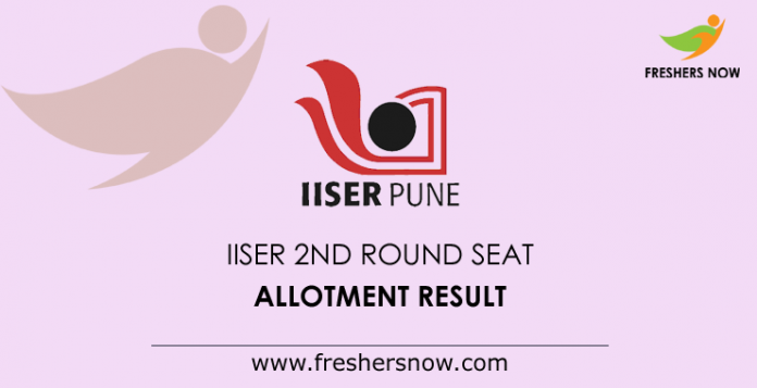 IISER 2nd Round Seat Allotment Result 2019
