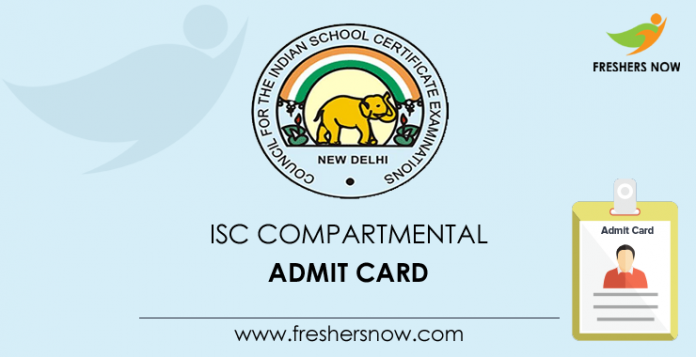 ISC Compartment Admit Card 2019