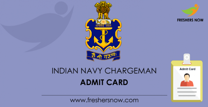 Indian Navy Chargeman Admit Card