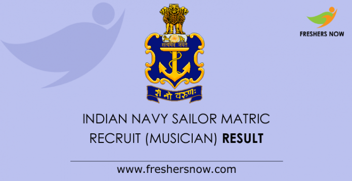 Indian Navy Sailor Matric Recruit (Musician) Result