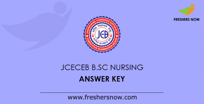 JCECEB B.Sc Nursing Answer Key 2019