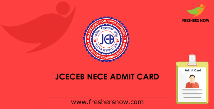 JCECEB NECE Admit Card 2019