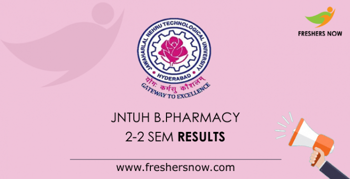 JNTUH-B.Pharmacy-2-2-Sem-Results