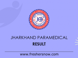 Jharkhand Paramedical Result