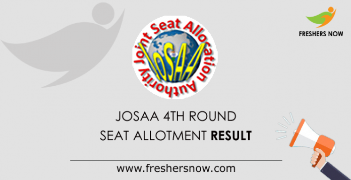 JoSAA 4th Round Seat Allotment Result