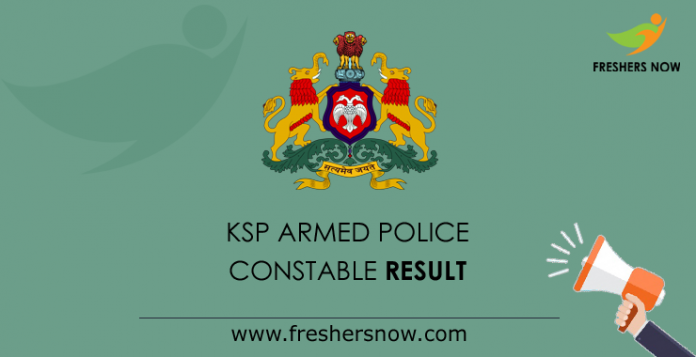 KSP Armed Police Constable Result