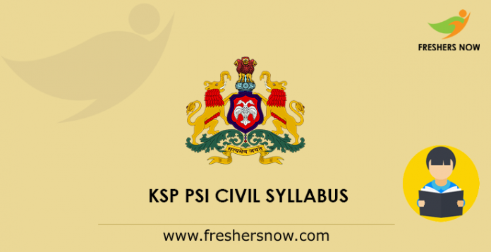KSP PSI Civil Syllabus