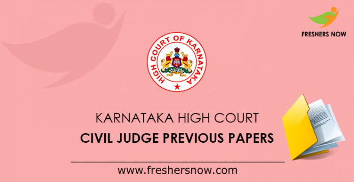 Karnataka High Court Civil Judge Previous Papers