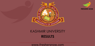 Kashmir University Results