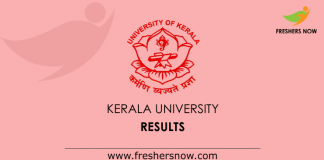 Kerala University Results 2019