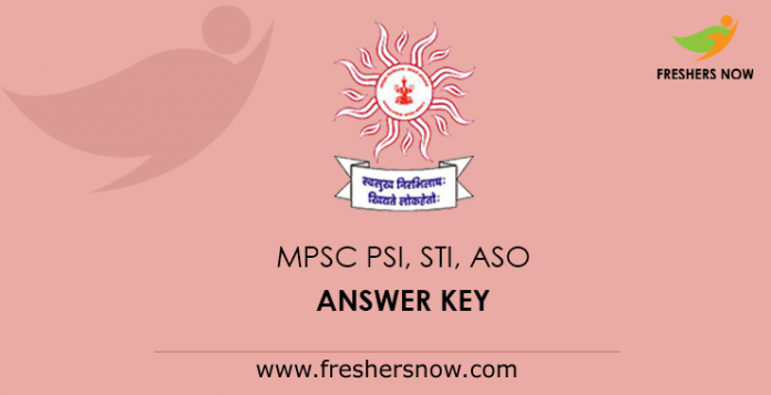 MPSC PSI, STI, ASO Answer Key