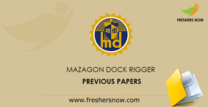 Mazagon Dock Rigger Previous Papers