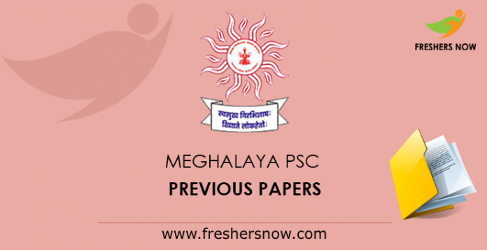 Meghalaya PSC Previous Papers