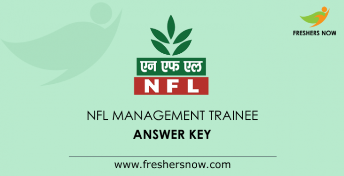 NFL Management Trainee Answer Key