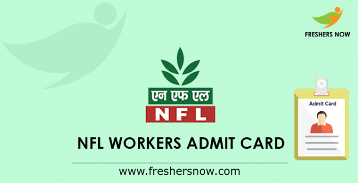 NFL Workers Admit Card