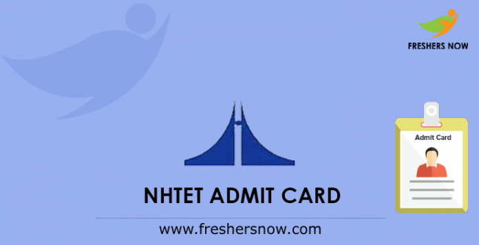 NHTET Admit Card
