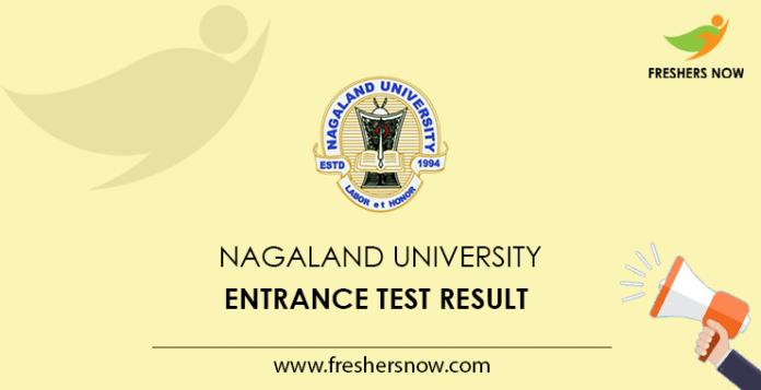 Nagaland University Entrance Test Result