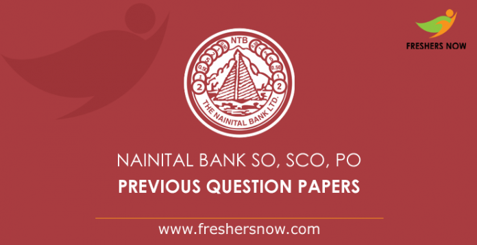 Nainital Bank SO, SCO, PO Previous Question Papers