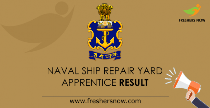 Naval Ship Repair Yard Apprentice Result