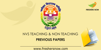 Navodaya Teaching, Non Teaching Old Papers