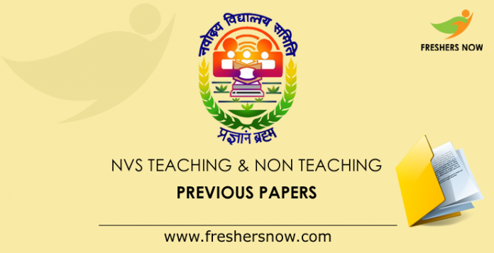 NVS Previous Question Papers PDF | Teaching, Non Teaching