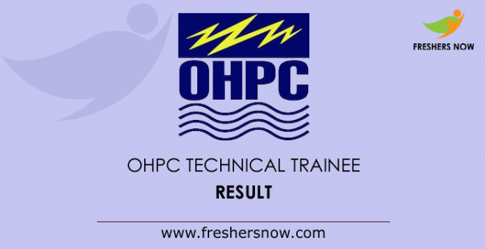 OHPC Technical Trainee Result