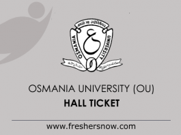 OU Hall Ticket 2019