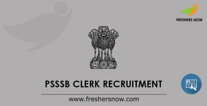 PSSSB Clerk Recruitment
