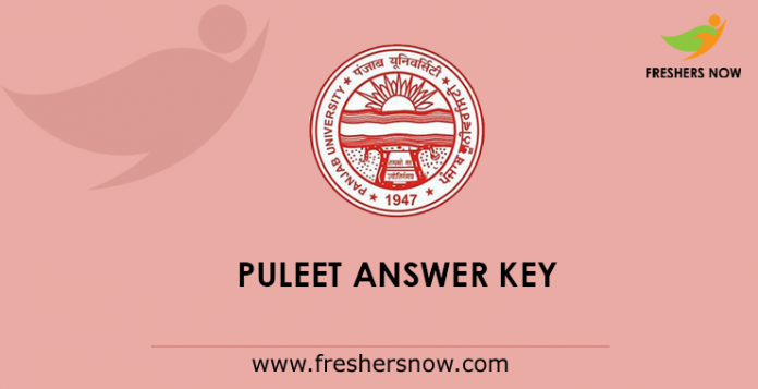 PULEET Answer Key 2019