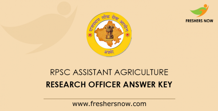 RPSC Assistant Agriculture Research Officer Answer Key