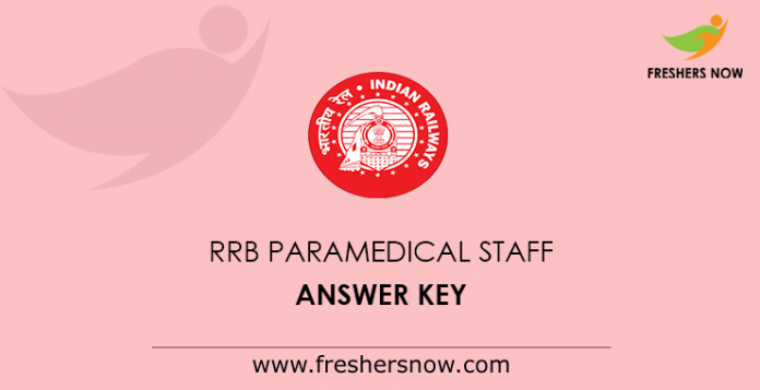 RRB Paramedical Staff Answer Key