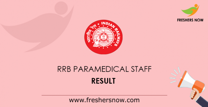 RRB Paramedical Staff Result