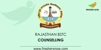 Rajasthan BSTC Counselling