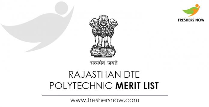 Rajasthan-DTE-Polytechnic-Merit-List