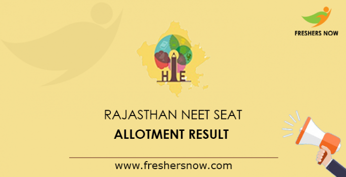 Rajasthan NEET Seat Allotment Result