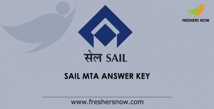 SAIL MTA Answer Key