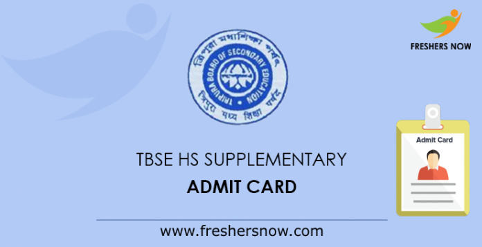 TBSE HS Supplementary Admit Card