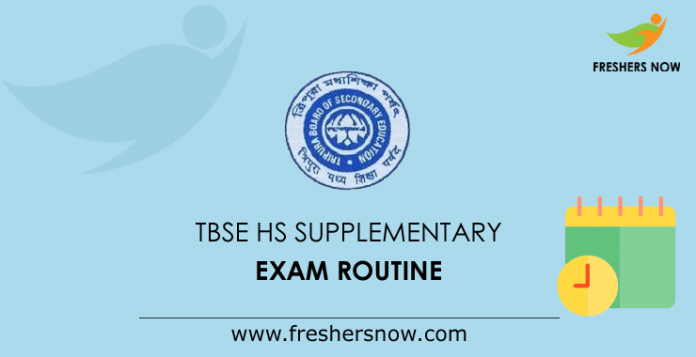 TBSE HS Supplementary Exam Routine 2019