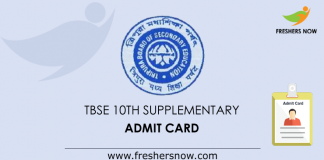 TBSE Madhyamik Supplementary Admit Card