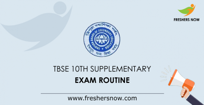 TBSE Madhyamik Supplementary Routine 2019