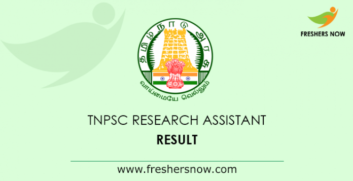 TNPSC-Research-Assistant-Result