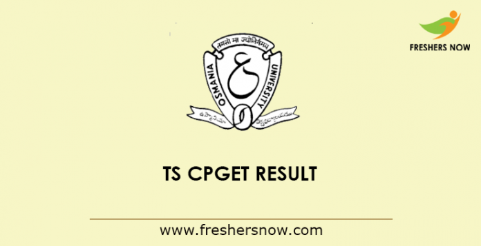 TS CPGET Result 2019 (Out) | Common PG Entrance Test Merit List