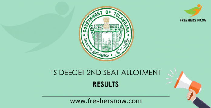 TS DEECET 2nd Seat Allotment Results 2019