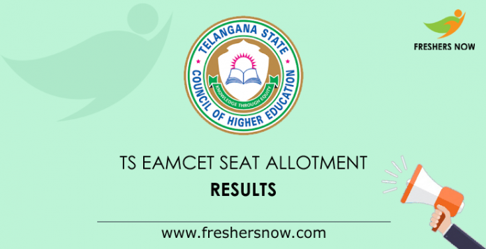 TS EAMCET Seat Allotment Results 2019