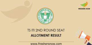 TS ITI 2nd Round Seat Allotment Result