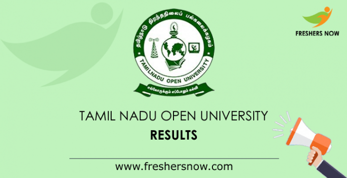 Tamil Nadu Open University Results 2019